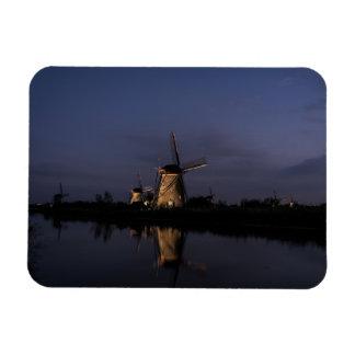 Magnet Flexible Moulin à vent lumineux à l'heure bleue