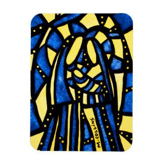 Magnet Flexible Noël abstrait de Jésus Mary Joseph de nativité de