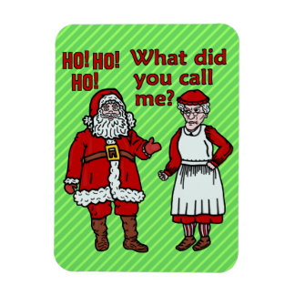 Magnet Flexible Noël drôle le père noël et Mme Holiday Joke
