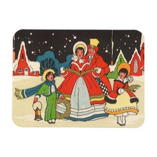 Magnet Flexible Noël vintage, hymnes de louange d'une musique de