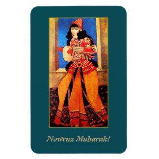 Magnet Flexible Nowruz Mubarak. Aimant persan de cadeau de