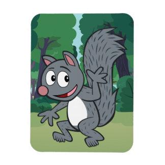 Magnet Flexible Ondulation grise d'écureuil de Rick   de garde