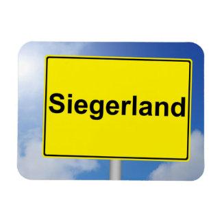 Magnet Flexible Pays de gagnant signe avec l'arrière-plan de ciel