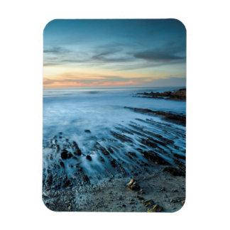 Magnet Flexible Paysage marin bleu au coucher du soleil, la