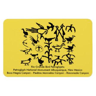 Magnet Flexible Pétroglyphes d'oiseau de Rio Grande