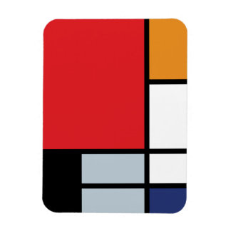 Magnet Flexible Piet Mondrian - composition avec le grand avion