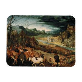 Magnet Flexible Pieter Bruegel l'aîné - le retour du troupeau