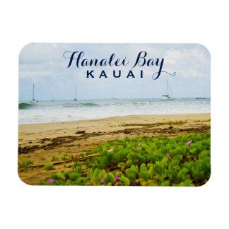 Magnet Flexible Plage et bateaux de Kauai Hawaï de baie de Hanalei