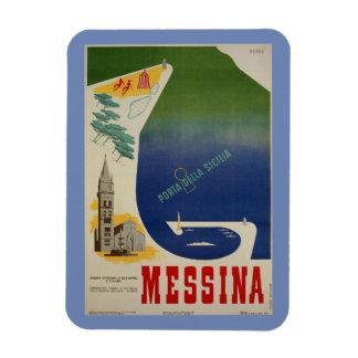 Magnet Flexible Port de Messine d'annonce italienne vintage de