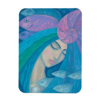 Magnet Flexible Princesse de sirène, imaginaire sous-marin, bleu
