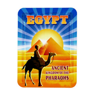 Magnet Flexible Pyramides et illustration égyptiennes de voyage de