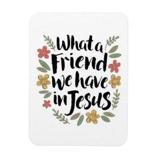 Magnet Flexible Quel ami nous avons dans l'aimant de Jésus