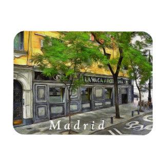 Magnet Flexible Restaurant dans une rue tranquille de Madrid