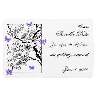 Magnet Flexible Rêves de papillon : Économies violettes de mariage