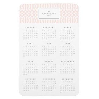 Magnet Flexible Rougissent l'aimant annuel de calendrier du