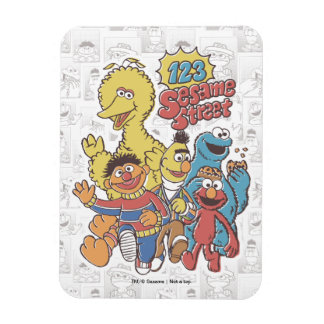 Magnet Flexible Sesame Street du cru 123