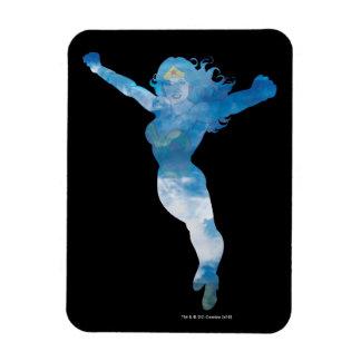 Magnet Flexible Silhouette de ciel bleu de femme de merveille