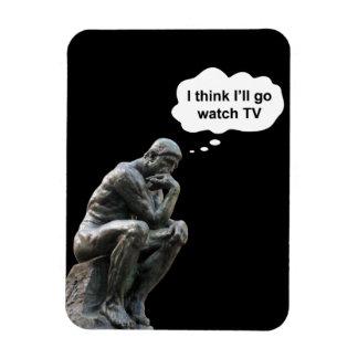 Magnet Flexible Statue du penseur de Rodin - je pense que j'irai