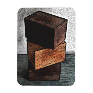 Magnet Flexible Trois boîtes en bois sur la raboteuse