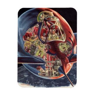Magnet Flexible Vaisseau spatial vintage de Rocket d'astronaute de