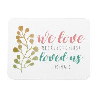 Magnet Flexible VERS de BIBLE chrétien que nous aimons puisque
