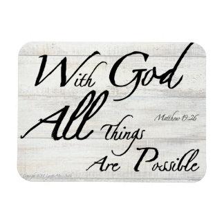 Magnet Flexible Vers de bible de 19h26 de Matthew sur l'aimant de