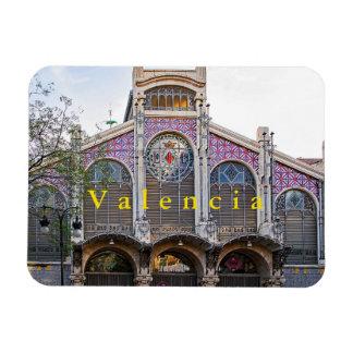 Magnet Flexible Vue du marché central de Valence