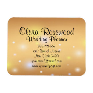Magnet Flexible Wedding planner Bokeh moderne