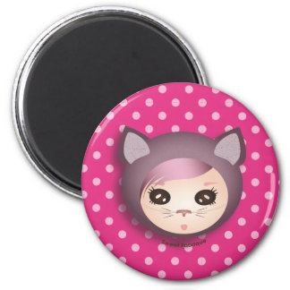 "Magnet ""Miss Kitty"" - Collection Kiwi Doll"