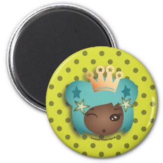 "Magnet ""Miss Métisse"" - Collection Kiwi Doll"