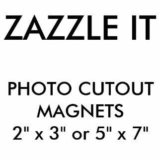 Magnet Photo Sculpture Blanc d'aimant de coupe-circuit de photo