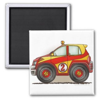 Magnet rouge de voiture de rassemblement magnet carré