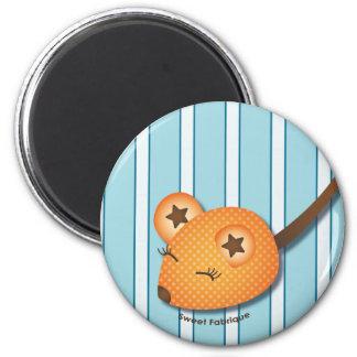 """Magnet """"Souris orange"""" - Collection Kiwi Doll"""