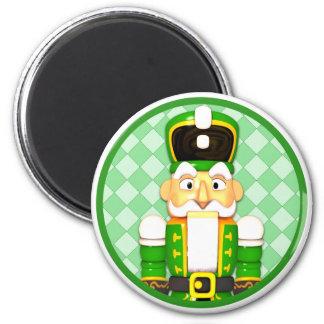 Magnet vert de vacances de Noël de casse-noix
