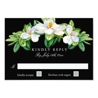 Magnolia MODERNE de typographie de carte de