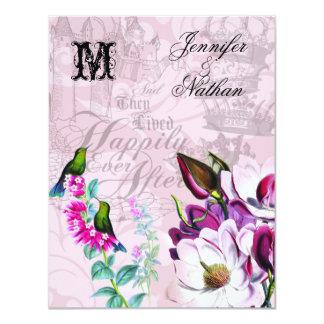 Carte Magnolias de colibris épousant la carte de RSVP