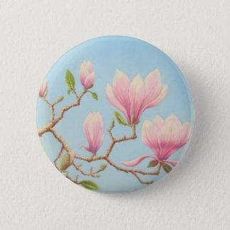 Magnolias en fleur, jardins de Wisley au pastel Badge Rond 5 Cm