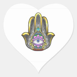 Main de Hamsa Sticker Cœur