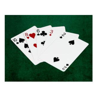 Mains de poker - haute carte - Dix