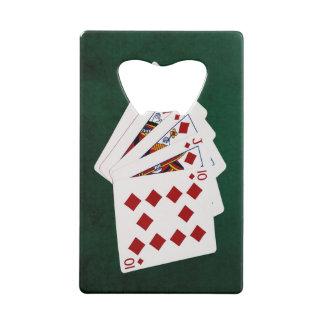 Mains de poker - quinte royale - costume de