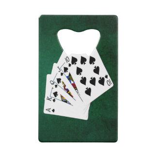 Mains de poker - quinte royale - costume de pelles