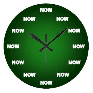 Maintenant horloge (vert)
