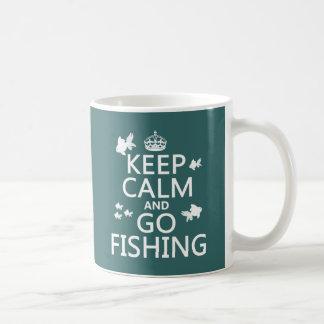 Maintenez calme et allez pêcher mug