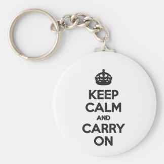 Maintenez calme et continuez le porte-clés