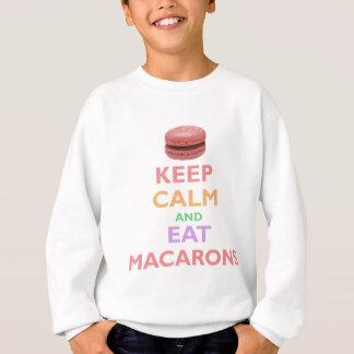 Maintenez calme et mangez Macarons Sweatshirt