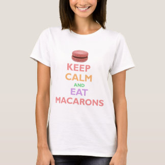 Maintenez calme et mangez Macarons T-shirt