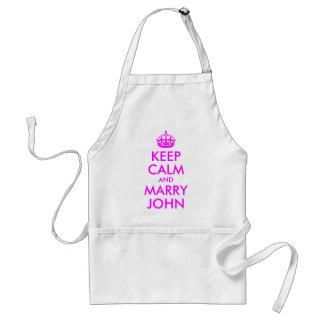 Maintenez calme et mariez le tablier de John