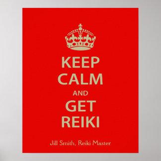 Maintenez calme et obtenez Reiki