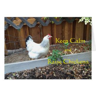Maintenez carte calme et d'augmenter de poulets