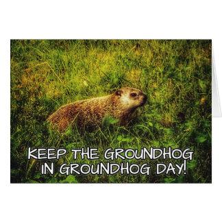 Maintenez le Groundhog dans la carte de jour de